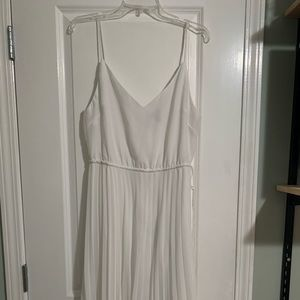 All white ASOS dress